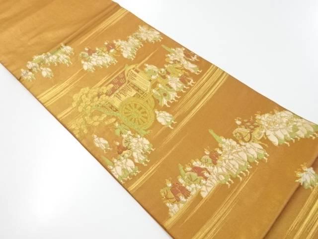 川島織物製 本金時代人物風景模様織り出し本袋帯【リサイクル】【中古】【着】 宗sou