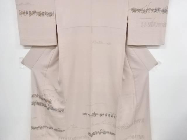 手描き大名行列模様刺繍訪問着【リサイクル】【中古】【着】 宗sou