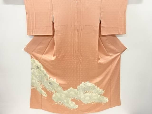 笠松に菊模様刺繍一つ紋色留袖【リサイクル】【中古】【着】 宗sou