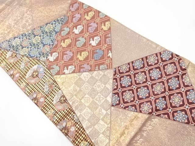 切りばめ名物裂織り出し袋帯【リサイクル】【中古】【着】 宗sou