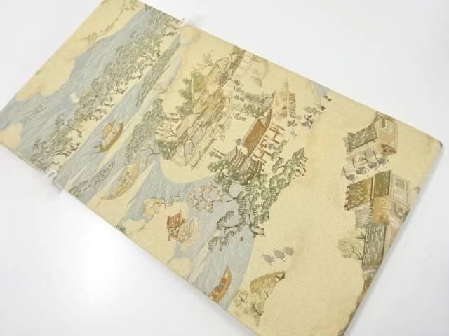 未使用品 本金日本三景屏風図織り出し袋帯【リサイクル】【着】 宗sou