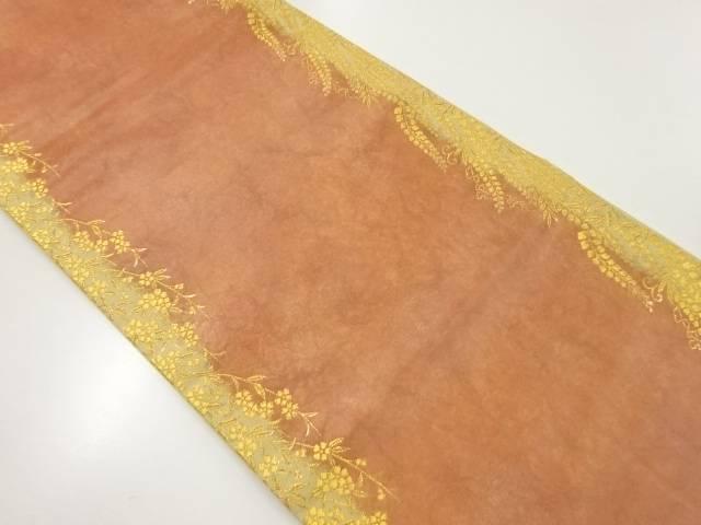 加納幸謹製 本金藤に枝垂れ桜模様織り出し袋帯【リサイクル】【中古】【着】 宗sou