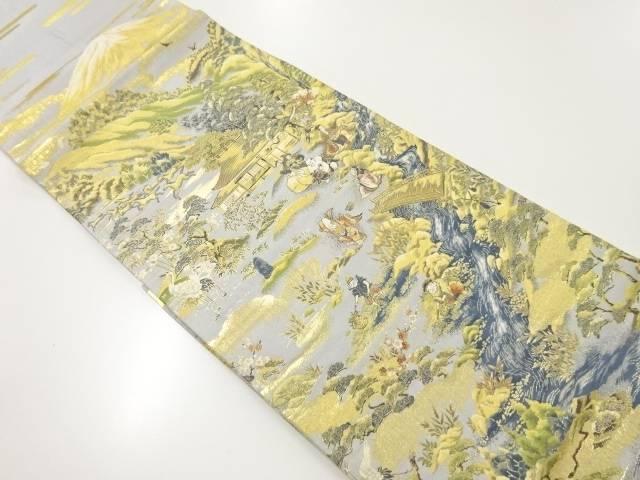 本金屋敷に七福神模様織り出し袋帯【リサイクル】【中古】【着】 宗sou