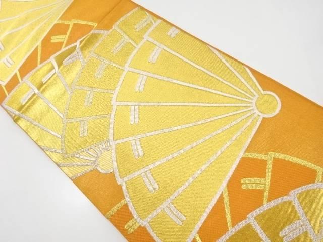 川島織物製 金糸桧扇模様織出本袋帯【リサイクル】【中古】【着】 宗sou