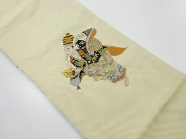 三番叟模様織出し袋帯【リサイクル】【中古】【着】 宗sou