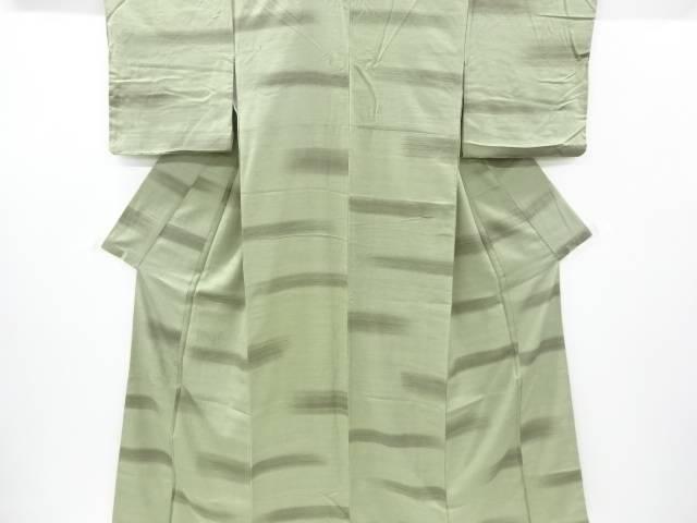木の葉模様刺繍手織り節紬付け下げ着物【リサイクル】【中古】【着】 宗sou