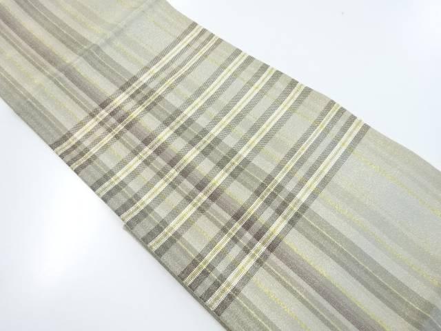未使用品 組織横段織出袋帯(未仕立て)【リサイクル】【着】 宗sou