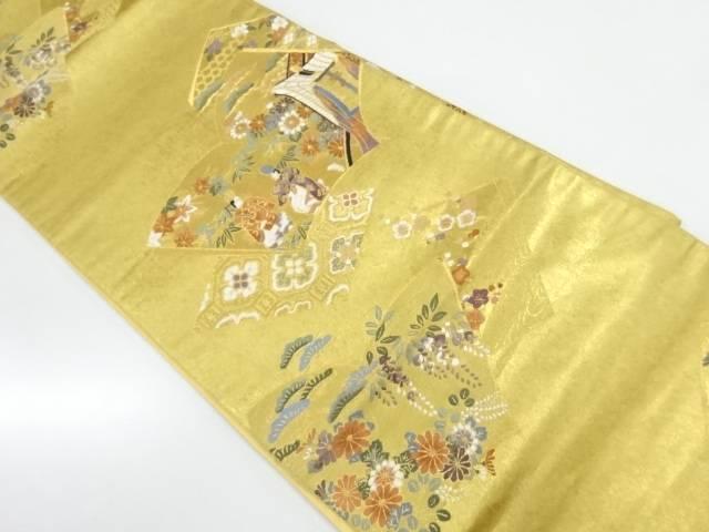 王朝絵巻文織出し袋帯【リサイクル】【中古】【着】 宗sou
