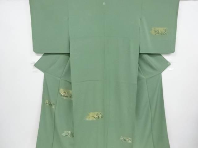 草花に小鳥模様刺繍一つ紋訪問着【リサイクル】【中古】【着】 宗sou