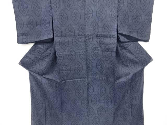 本場宮古上布亀甲に更紗模様織り出し着物【アンティーク】【中古】【着】 宗sou