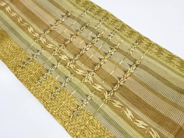 縞に抽象模様袋帯【リサイクル】【中古】【着】 宗sou