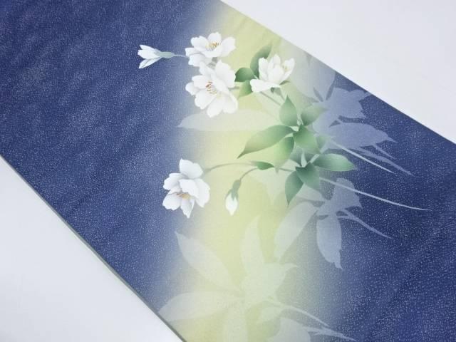 作家物 手描き花模様袋帯【リサイクル】【中古】【着】 宗sou