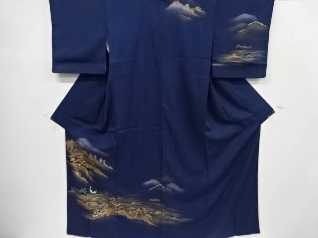 金彩手描き山寺に鷺模様訪問着【リサイクル】【中古】【着】 宗sou