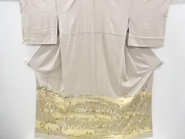 松尾光琳作 金彩時代祭模様刺繍三つ紋色留袖【リサイクル】【中古】【着】 宗sou