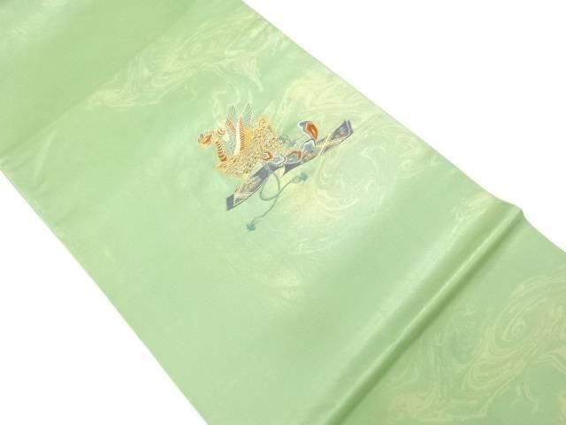 冠模様織出し袋帯【リサイクル】【中古】【着】 宗sou