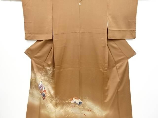 金彩高砂に松模様一つ紋色留袖【リサイクル】【中古】【着】 宗sou