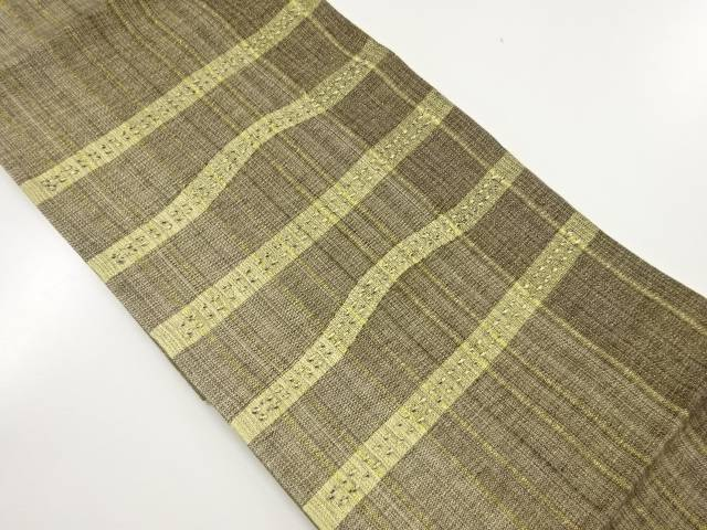 未使用品 組織横段織り出し袋帯(未仕立て)【リサイクル】【着】 宗sou