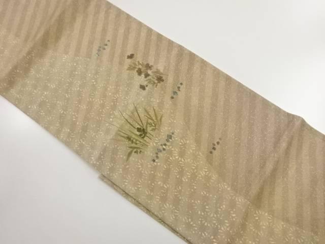 作家物 螺鈿草花模様袋帯【リサイクル】【中古】【着】 宗sou
