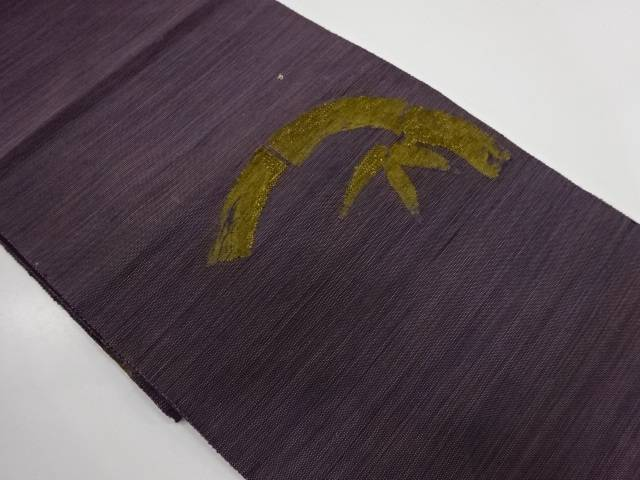 竹笹模様織出し袋帯【リサイクル】【中古】【着】 宗sou