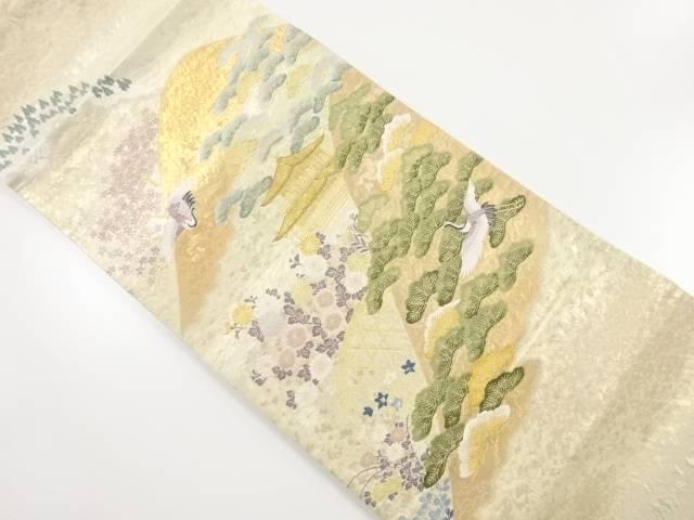本金薫風楼閣文織り出し袋帯【リサイクル】【中古】【着】 宗sou