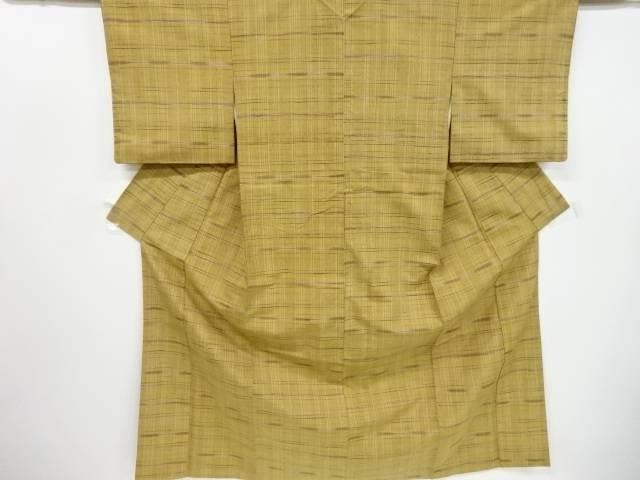 格子織り出し手織り真綿紬着物【リサイクル】【中古】【着】 宗sou
