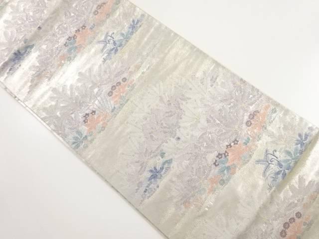 じゅらく製 金糸若松模様織り出し袋帯【リサイクル】【中古】【着】 宗sou