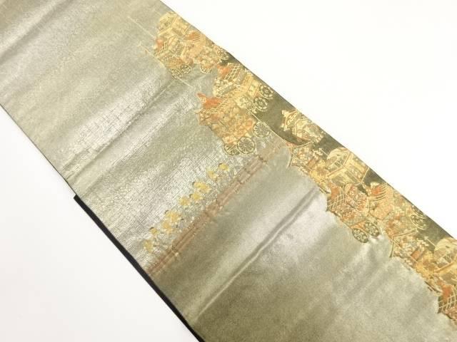 引箔祇園祭模様織り出し袋帯【リサイクル】【中古】【着】 宗sou