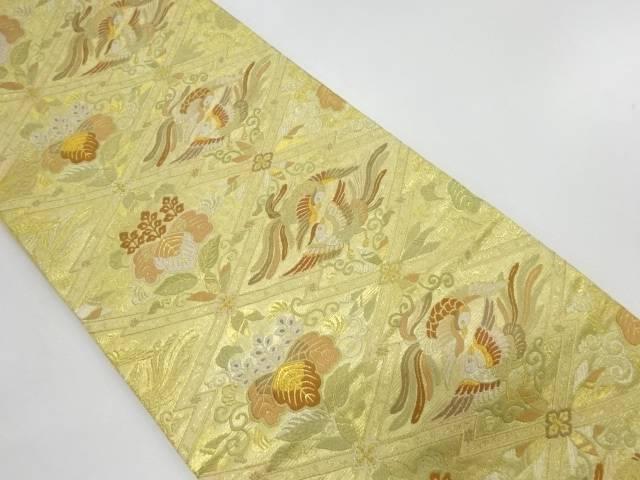 向かい鳳凰に桐模様織出し袋帯【リサイクル】【中古】【着】 宗sou