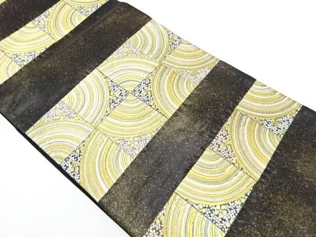 抽象花模様織出し袋帯【リサイクル】【中古】【着】 宗sou