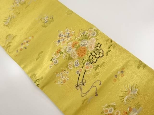 本金 花車に鴛鴦模様織り出し袋帯【リサイクル】【中古】【着】 宗sou
