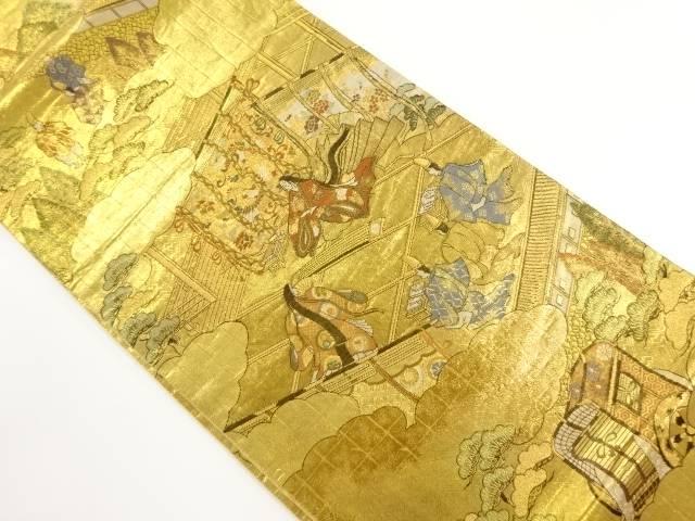 佐賀錦 時代人物模様織り出し袋帯【リサイクル】【中古】【着】 宗sou