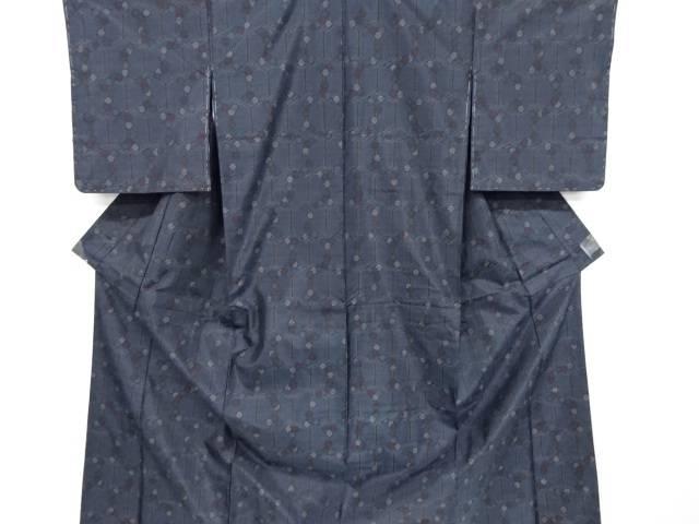 亀甲に花模様織り出し本場泥大島紬着物アンサンブル【リサイクル】【中古】【着】 宗sou