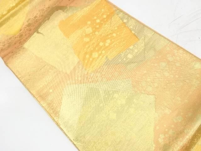 破れ色紙模様織出し袋帯【リサイクル】【中古】【着】 宗sou
