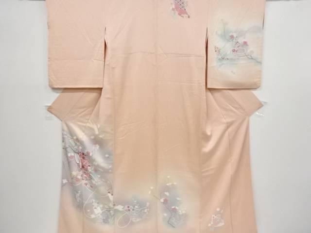 手描き桜に誰が袖模様訪問着【リサイクル】【中古】【着】 宗sou