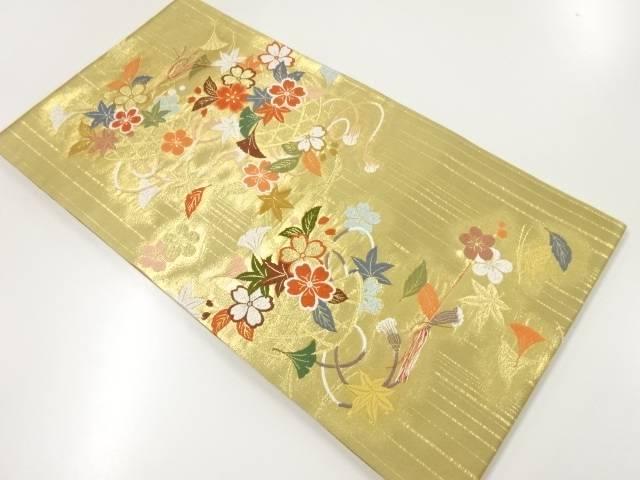 未使用品 花籠模様織出し袋帯【リサイクル】【着】 宗sou