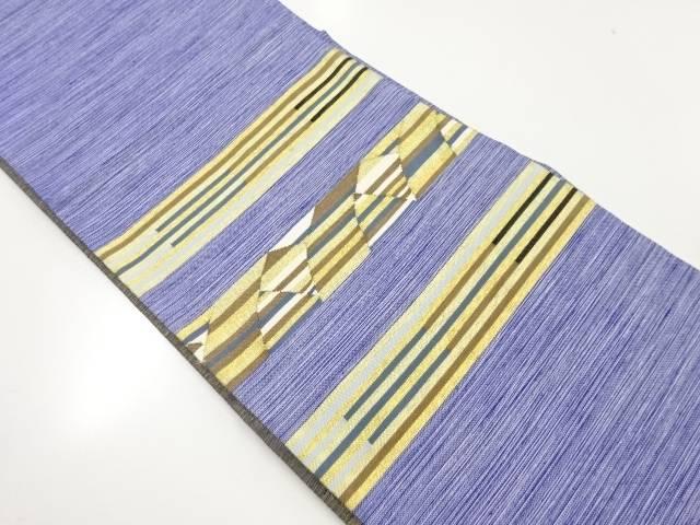 金糸横段模様織出し袋帯【リサイクル】【中古】【着】 宗sou