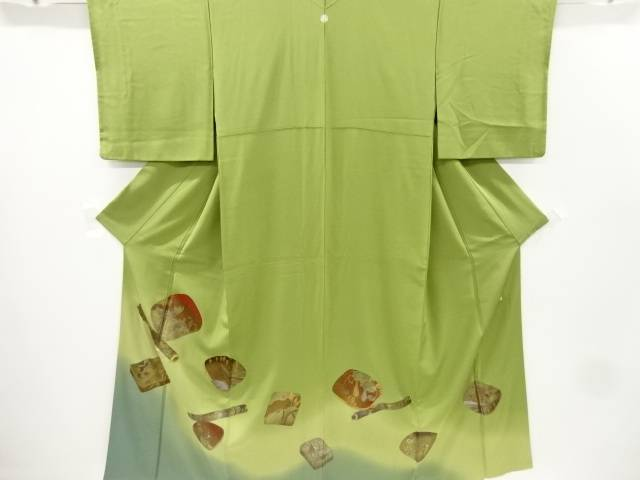 作家物 箔置き手箱に横笛模様一つ紋色留袖【リサイクル】【中古】【着】 宗sou