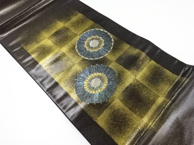 金彩螺鈿番傘模様織り出し袋帯【リサイクル】【中古】【着】 宗sou
