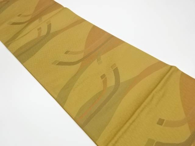 幾何学模様織出し洒落袋帯【リサイクル】【中古】【着】 宗sou