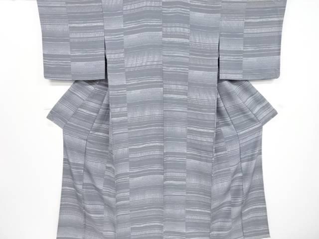 変わり横段模様単衣小紋着物【リサイクル】【中古】【着】 宗sou