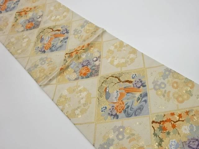 菱瑞鳥小袖文織出し袋帯【リサイクル】【中古】【着】 宗sou