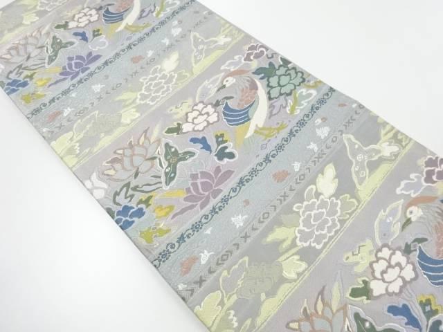 横段に花鳥模様織り出し袋帯【リサイクル】【中古】【着】 宗sou