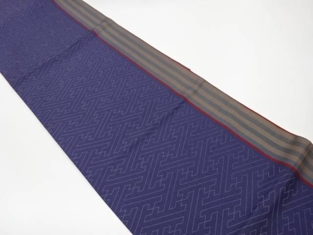 縞に紗綾形模様織出し全通洒落袋帯【リサイクル】【中古】【着】 宗sou
