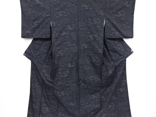 雲取に笠松模様織り出し本場泥大島紬着物アンサンブル【リサイクル】【中古】【着】 宗sou