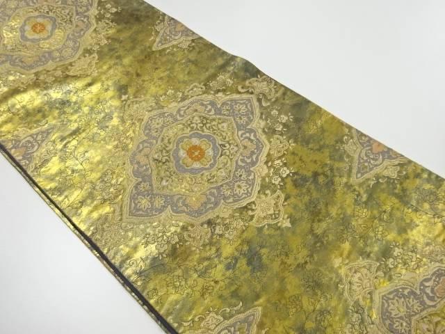 服部織物製 こはく錦華紋織り出し袋帯【リサイクル】【中古】【着】 宗sou