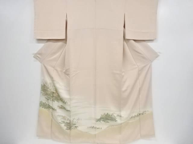 寿光織寺院風景模様刺繍一つ紋色留袖【リサイクル】【中古】【着】 宗sou