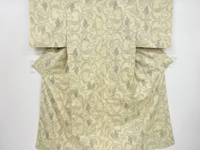 葡萄唐草模様織り出し節紬着物【リサイクル】【中古】【着】 宗sou