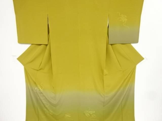 汕頭蘇州刺繍 巻物に琴・組紐模様訪問着【リサイクル】【中古】【着】 宗sou