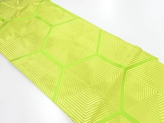 川島織物製 子持ち亀甲模様織出し名古屋帯【リサイクル】【中古】【着】 宗sou