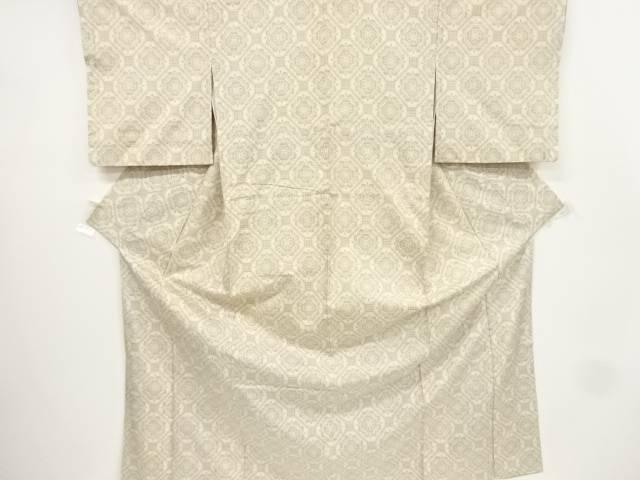 蜀江に華紋織り出し手織り節紬着物【リサイクル】【中古】【着】 宗sou